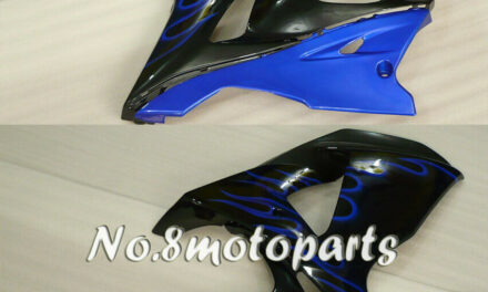 Fit for 2009-2016 GSXR 1000 Blue White Flames Black Left Right Side Fairings a18