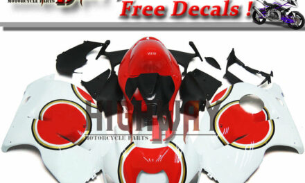 Fairings For Suzuki GSXR1300 Hayabusa 97-07 ABS Kit White Red Injection Cowling
