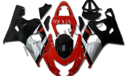 Fit for Suzuki 2004 2005 GSXR 600 750 Injection Kit Red Black Fairing a008