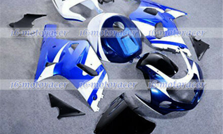 Fairing Blue White Full Injection Mold Fit for 2001-2003 GSX-R 600/750 K1 a#46