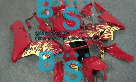 Red Glossy INJECTION Fairing For HONDA CBR600RR 2005-2006 68 A4