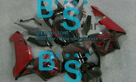 Flames Red INJECTION Fairing For HONDA CBR600RR 2005-2006 33 A1