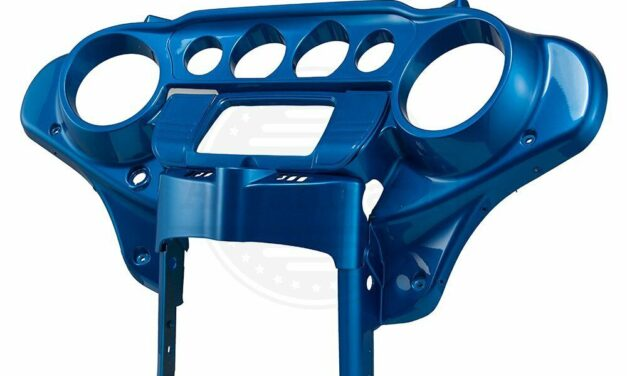 Electric Blue Batwing Inner Cowl Fairing Cap Fit 2014-20 Harley Street Touring