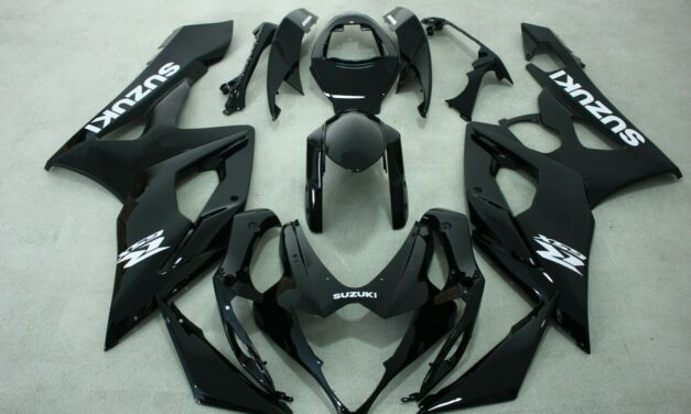 AFTERMARKET ABS INJECTION PLASTIC FAIRINGS FOR SUZUKI GSXR1000 05-06 GLOSS BLACK