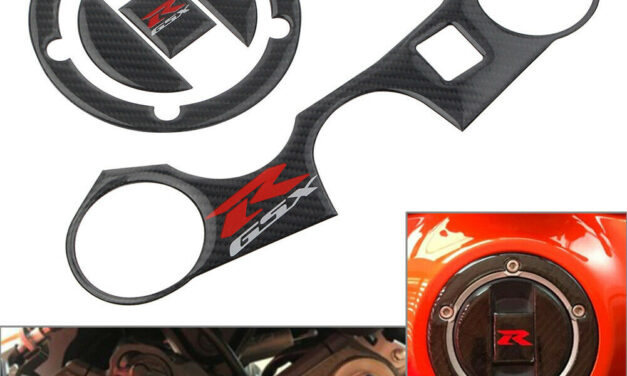 Real Carbon Fiber for GSXR1000 750 600 Protector 3D Decal Tank Gas Cover Sticker