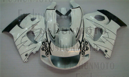 Black White ABS Complete Fairing Kit Fit for 1996-2000 GSXR 600 GSXR 750 a13