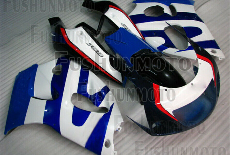 New Blue White ABS Complete Fairing Kit Fit for 1996-2000 GSXR 600 GSXR 750 a10