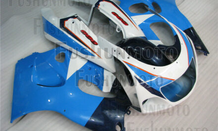 Blue White ABS Complete Fairing Kit Fit for 1996-2000 GSXR 600 GSXR 750 a09