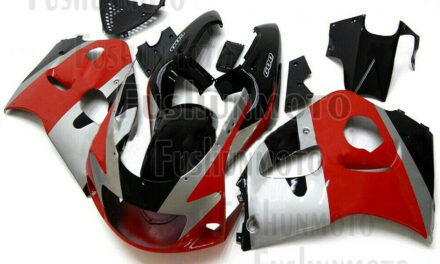 Red Silver Black Complete Fairing Kit Fit for 1996-2000 GSXR 600 GSXR 750 a06