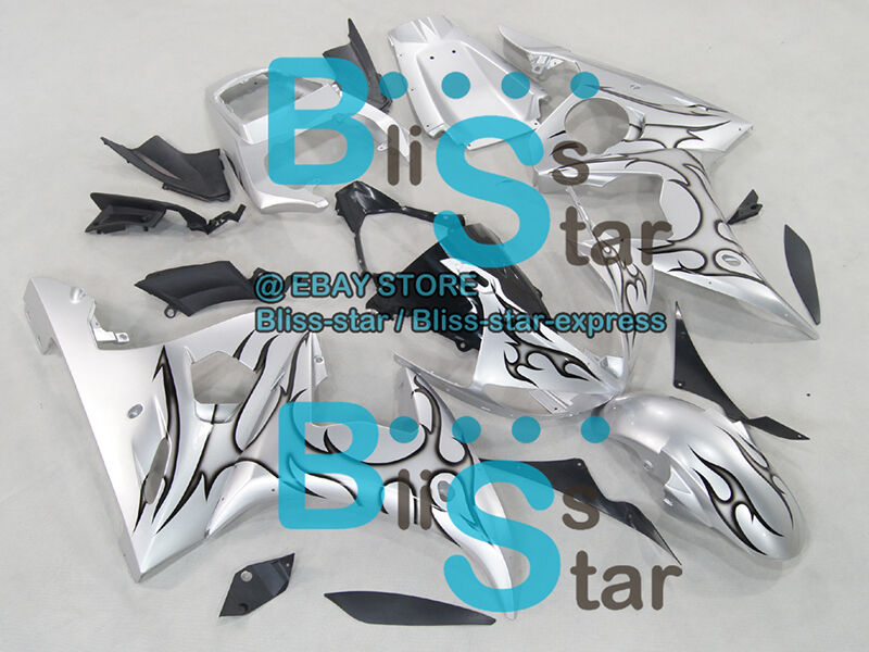 Silver INJECTION Fairing Fit Yamaha YZFR6 YZF-R6 2003-2005 R6S 2006-2009 36 A5