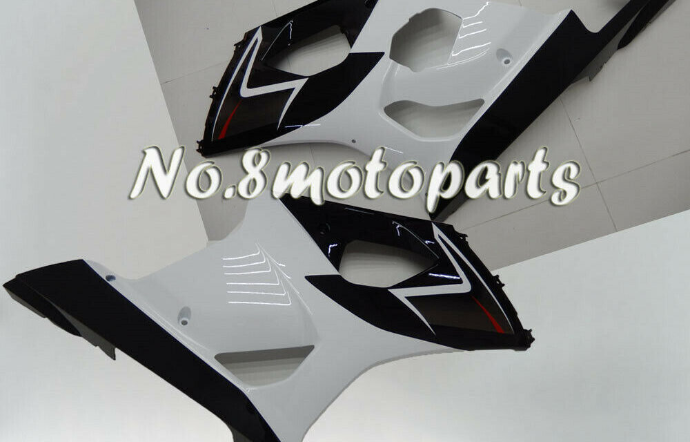 Fit for 2003-2004 GSXR1000 K3 Injection Left Right Side Fairings Black White a13