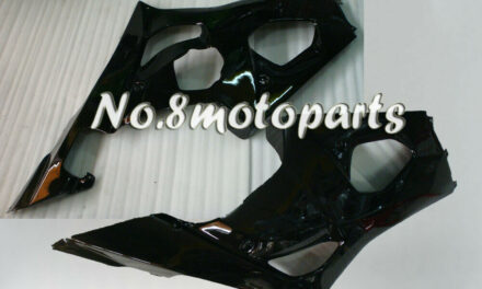 Fit for 2003-2004 GSXR1000 K3 Injection Left Right Side Fairings Gloss Black a12