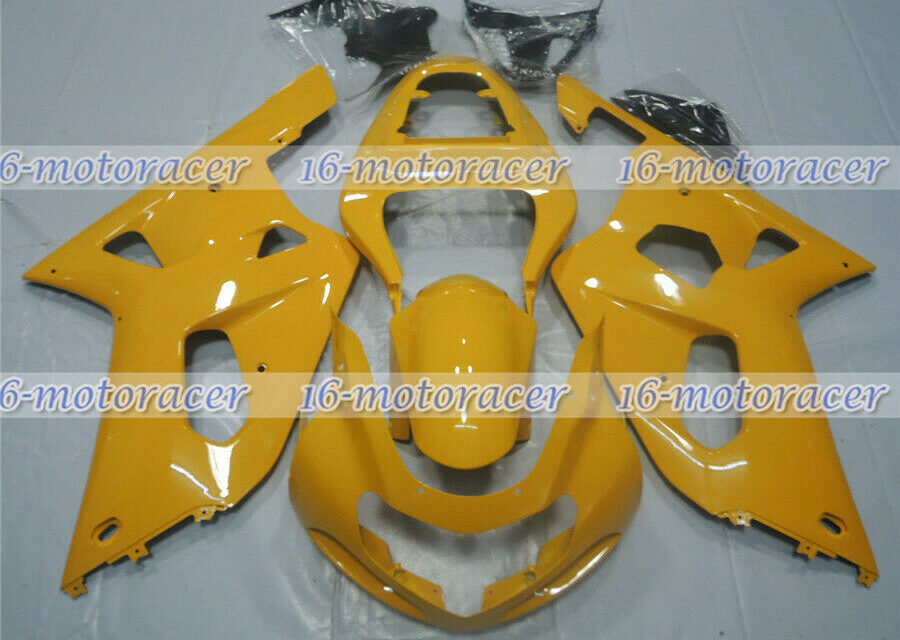 Fairing Injection Yellow Body Set Plastic Fit for GSXR 600 750 K1 2001-2003 #111