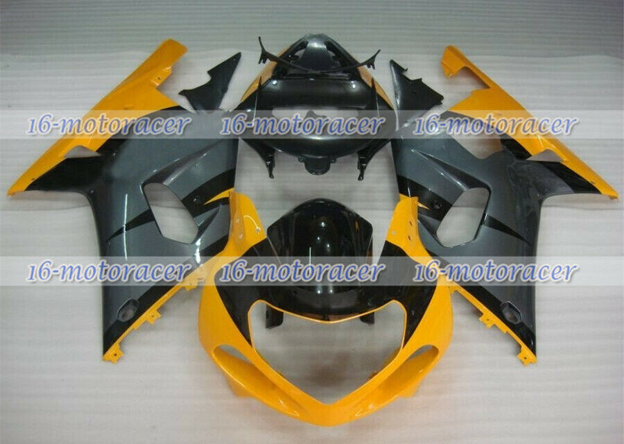 Fairing Black Yellow Grey Injection Plastic Fit for 2001-2003 GSX-R 600 750 #160