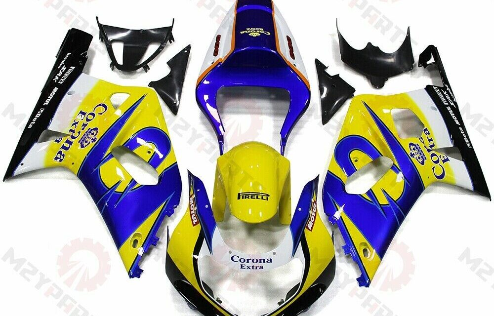 For GSXR600 750 2001-2003 ABS Injection Mold Bodywork Fairing Kit Yellow Blue
