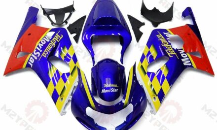 Bodywork For 2001-2003 GSXR600 GSXR750 Blue Red ABS Injection Mold Fairing Kit