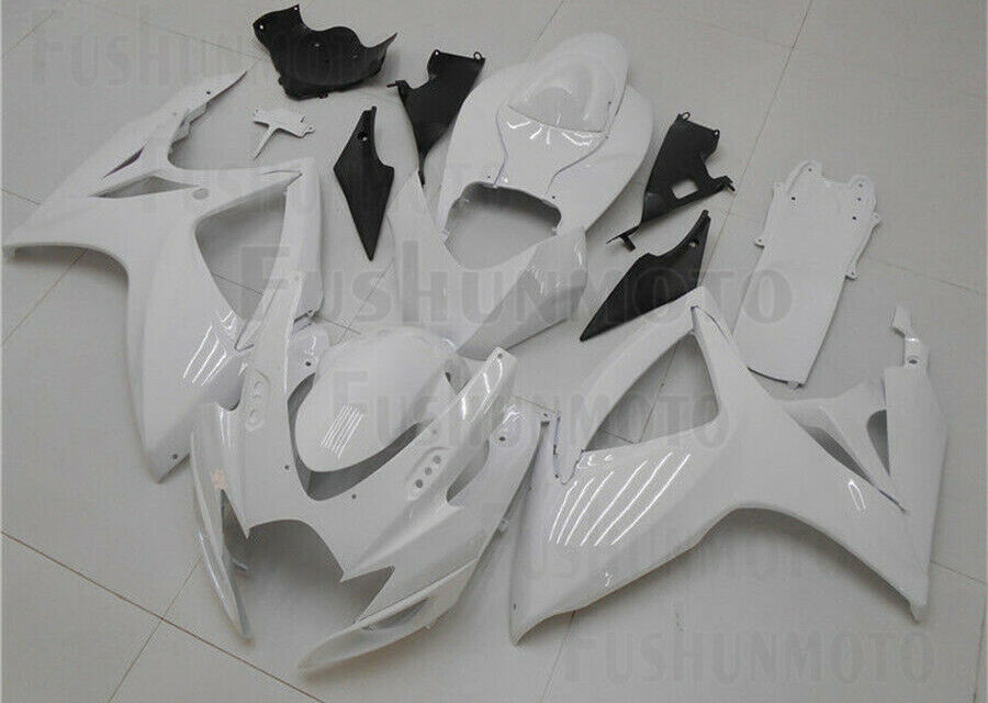 Gloss White Fairing Fit for Suzuki 2006 2007 GSXR600/750 K6 Injection ABS New 53