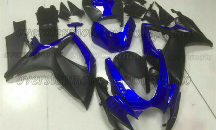 Injection Matte Black t Blue New Fairing Fit for GSXR 600/750 K6 2006-2007 aAW