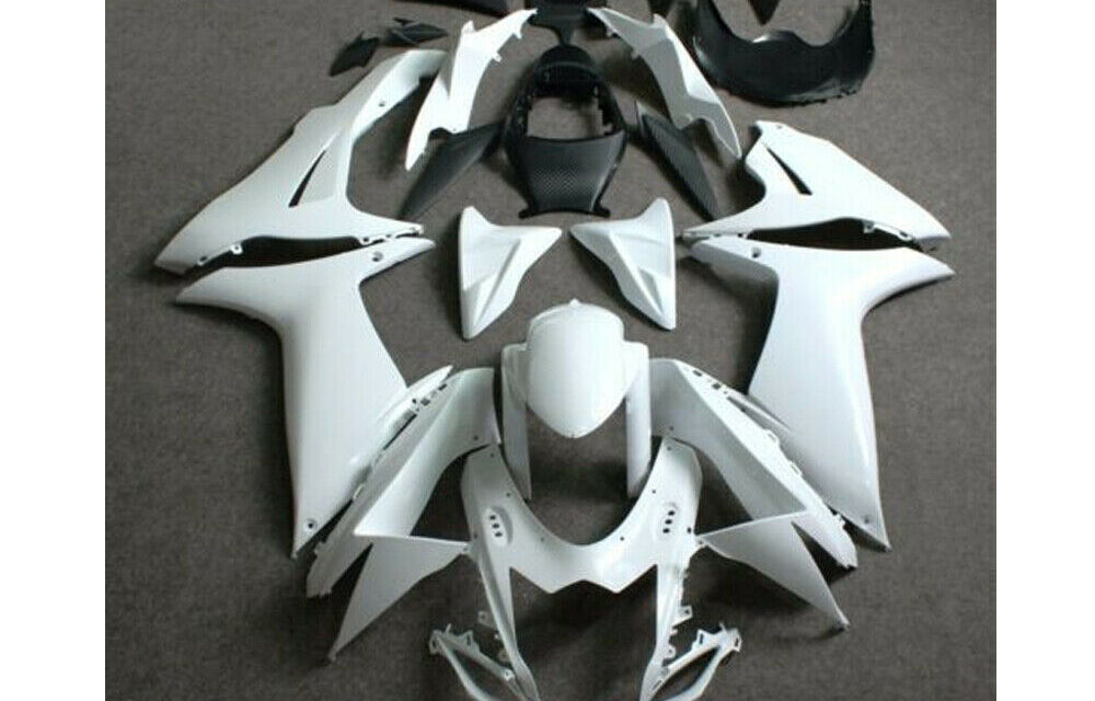 Fit for 2011-2019 GSXR600 GSXR750 Unpainted White ABS Injection Mold Fairing Kit