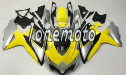 Fit for GSXR 600 750 2008-2010 Yellow Silver Black Injection Plastic Fairing #Ai