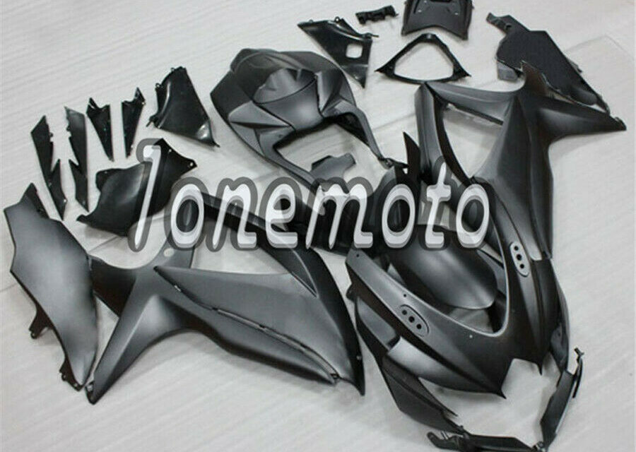 Fit for 2008-2010 GSX-R 600 750 K8 Matte Black ABS Injection Mold Fairing #Bc