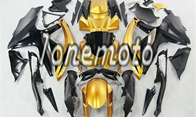 Fit for 2008-2010 GSX-R 600 750 K8 Gold Black ABS Injection Mold Fairing #Bd