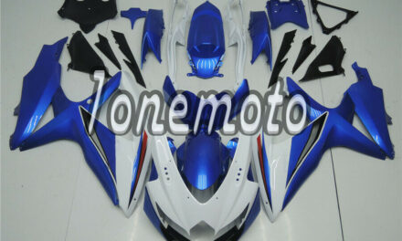 Fit for 2008-2010 GSX-R 600 750 K8 Injection Plastic Fairing Set White Blue #Aa