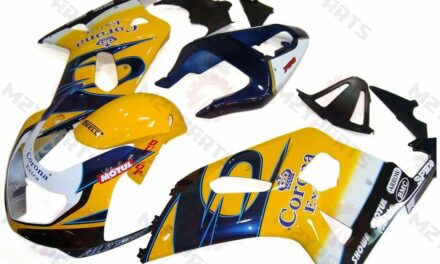 For GSXR600/750 2001-2003 ABS Injection Mold Bodywork Fairing Kit Yellow Black