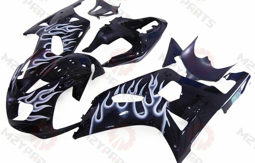 For GSXR600/750 2001-2003 ABS Injection Mold Bodywork Fairing Kit Black Cowling