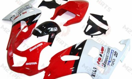 For 2001-2003 GSXR600 GSXR750 Red White ABS Injection Mold Fairing Kit Cowling