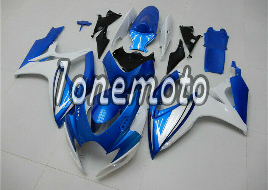 Fit for GSXR 600 750 2006-2007 K6 Blue White Injection ABS Plastic Fairing #Aa