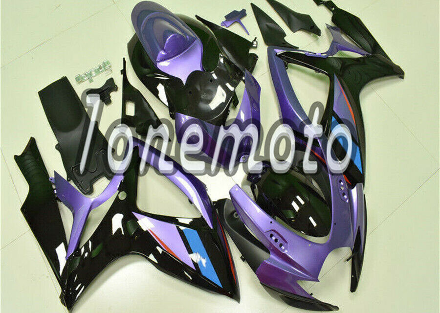 Fit for GSXR 600 750 06 07 K6 New Purple Black ABS Plastic Injection Fairing #Bm