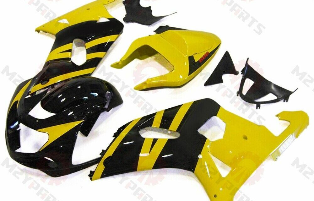 Injection Fairing Kit for GSXR600/750 2000 2001 2002 2003 Yellow Black Cowling