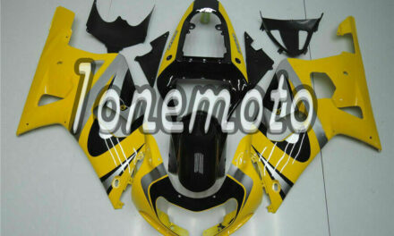 Fit for GSXR 600 750 2001-2003 K1 yellow Silver Black Injection ABS Fairing #Bd