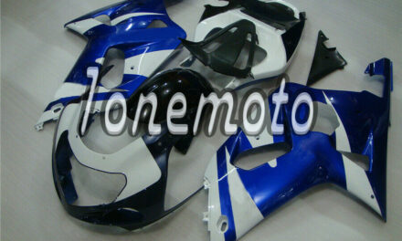 Fit for GSXR600 GSXR750 2001 2002 2003 Blue White ABS Injection Fairing Kit #Al