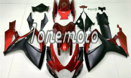 Fit for GSXR 600 750 2006 2007 K6 Matte Black Pearl Red Injection Fairing #Bh
