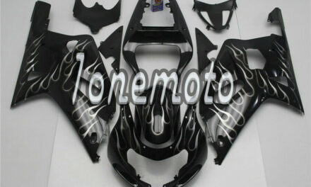 Fit for 2001-2003 Suzuki GSXR 600 750 K1 ABS Injection Plastic Flame Fairing #Af
