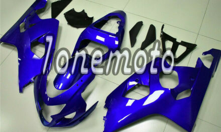 Fit for GSXR 600 750 04-05 K4 Glossy Blue Injection ABS Fairing Kit Bodywork #Ai