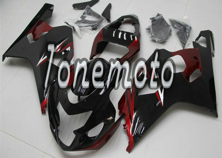 Fit for GSXR 600 750 04-05 K4 Pearl Red black Injection Fairing Kit Bodywork #An