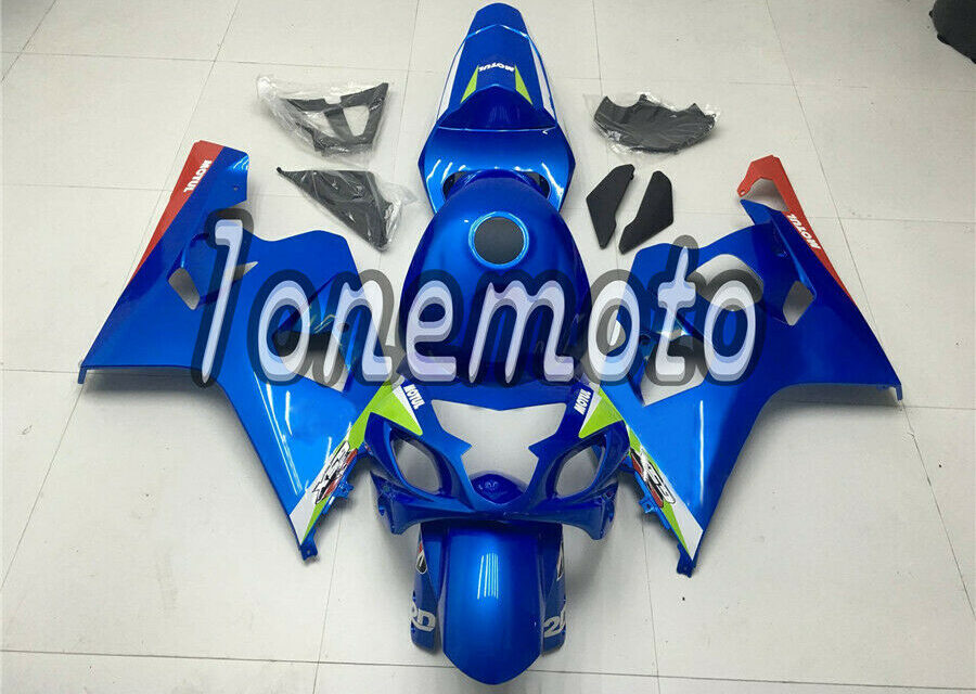 Fit for 2004-05 Suzuki GSXR 600 750 K4 ABS Injection Blue Complete Fairings #Bp