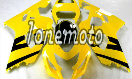 Fit for GSXR 600 750 2004-2005 K4 Yellow Black ABS Injection Molding Fairing #Ar