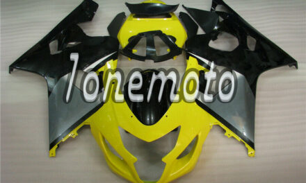Fit for 2004-2005 GSXR 600 750 K4 Yellow Black ABS Injection Molded Fairing #Az