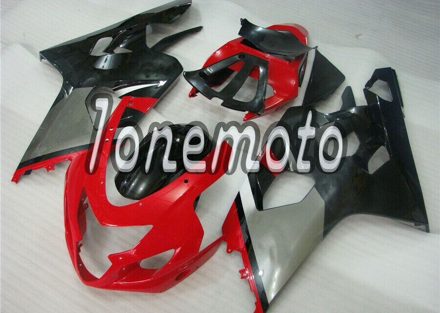 Fit for 2004-2005 GSXR 600 750 K4 New Red Black ABS Injection Molded Fairing #Bk