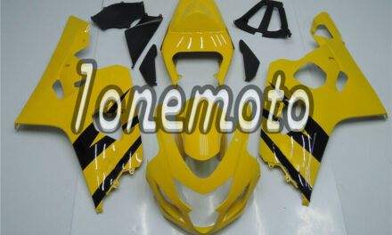 Fit for GSXR 600 750 2004-2005 K4 New Yellow Black Injection Molding Fairing #Ak