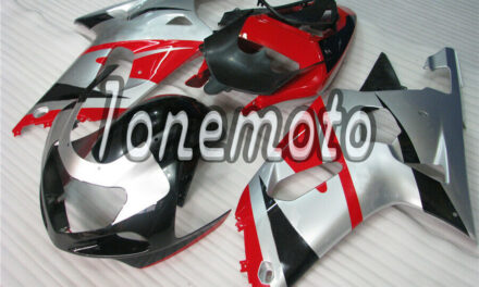 Fit for 2001-2003 GSX-R 600 750 Injection Fairing Plastics Set Red Silver Black