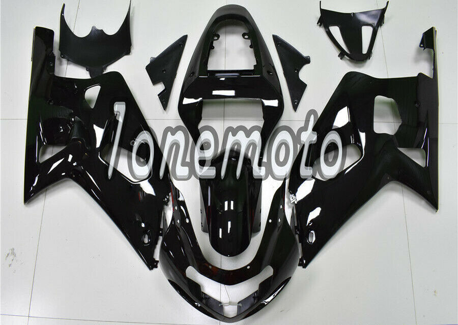 Fit for Suzuki GSX-R 600 750 2001-2003 K1 Glossy Black Injection ABS Fairing #Ab