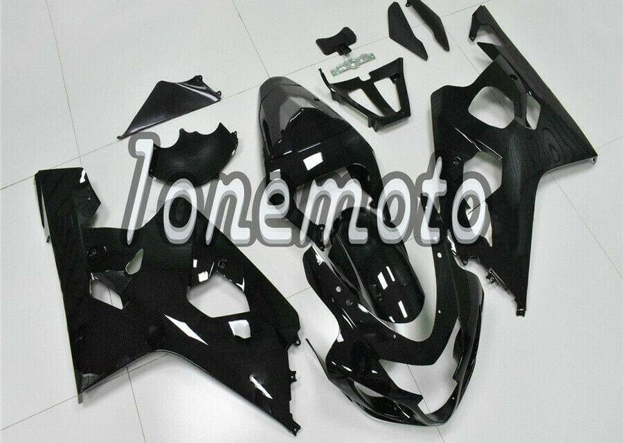 Fit for GSX-R 600 750 2004-2005 04 K4 Injection Molding Fairing Glossy Black #Ao