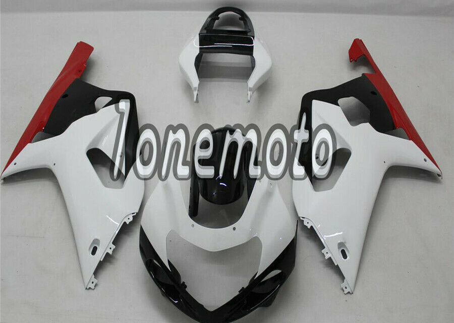Fit for GSX-R 600 750 2001-2003 K1 White Black Red Injection ABS Fairing #Am