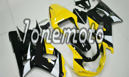 Fit for GSX-R 600 750 2001-2003 K1 Black Yellow Injection ABS Mold Fairing #Ak