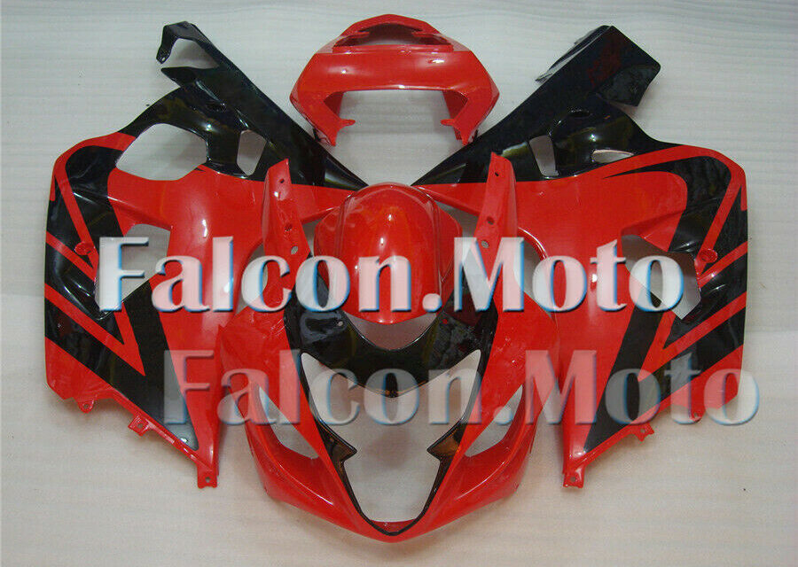 Injection Black Red Fairing Fit for 04-05 2004 2005 GSXR 600 750 K4 Plastics ABS